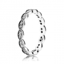 190923CZ Stackable Ring Leaves SILVER Ring