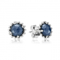 290561NBC Midnight Star Blue SILVER Earrings