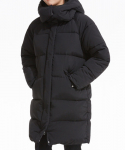 Uni Hooded Cocoon Fit Long Down_BK (PWOE4DJLB2M0C1) (WOMEN)