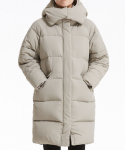 플랙(PLAC) Uni Hooded Cocoon Fit Long Down_BE (PWOE4DJLB2M0E1) (WOMEN)