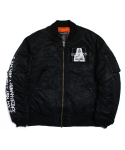 아임낫어휴먼비잉(I AM NOT A HUMAN BEING) [17W] Porno 6 Flight Jacket - Black
