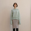 누이슈(NUISSUE) TWINKLE KNIT SKIRT SILVER