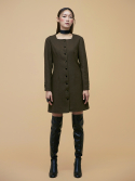Square Dress in Khaki