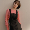 누이슈(NUISSUE) SUSPENDER DRESS BLACK
