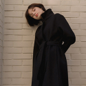 STANDARD WOOL COAT BLACK