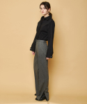 HERRINGBONE PANTS GRAY