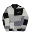 아임낫어휴먼비잉(iamnotahumanbeing) [17W] Patch Work Stadium Jacket - Achromatic Color