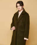 OVERSIZE WOOL COAT KHAKI