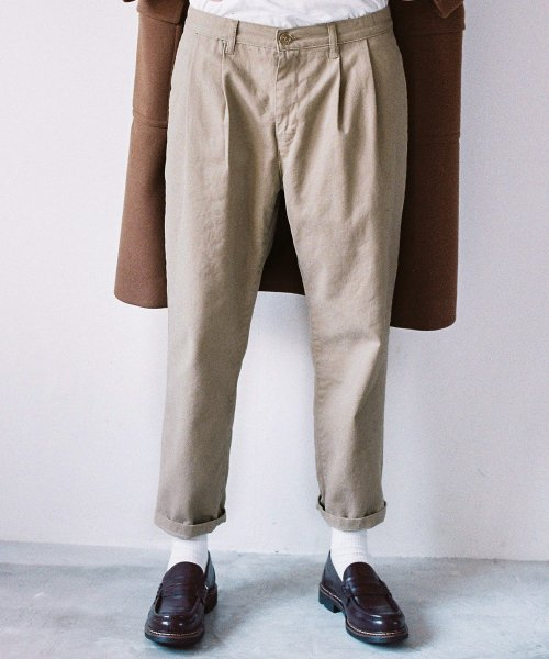 모디파이드_M#1474 preppy semi-wide pants (beige)