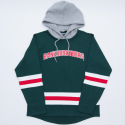 BANKTWOBROTHERS HOODED HOCKEY COLLEGE (FORESTGREEN)