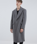 CABINET COAT GREY (BOXY SHAPE CROMBIE COAT)