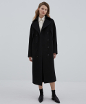GARDEN COAT BLACK (CASHMERE CAPE COAT)