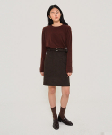 VELO SKIRT (BROWN)