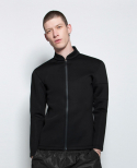 [Men] Swim Zip Jacket Black