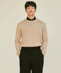 로맨틱 파이어리츠(ROMANTICPIRATES) ESSENTIAL CREWNECK KNIT SWEATER(BEIGE)