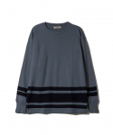 패브릭스(FABRICES) FABRICES / FADED L/S T-SHIRT / INDIGOxB.GREY