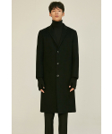 로맨틱 파이어리츠(ROMANTICPIRATES) [HANDMADE]SINGLE WOOL COAT(JET BLACK)