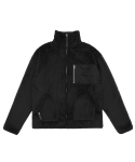 T37F FLEECE ZIP UP (BLACK)