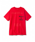 PLEASURES / BEFORE AFTER T-SHIRT / RED