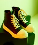 Front Lace-Up Leather High Top (BK)