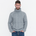 스트라이크(STRIKE) Dozen Strand Knit Turtleneck Pullover (BlueGray)