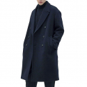 IL CORSO Sinclair Cashmere Melton Super Over Long Ripper Collar Double Coat IECO7F203N2