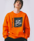 (FLEECE LINED)MARK GONZALES SHOOT DRAWING CREWNECK ORANGE