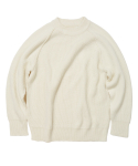 왓에버위원트(WHATEVERWEWANT) [UNISEX] RAGLAN SWEATER [IVORY]