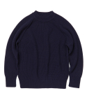 [UNISEX] RAGLAN SWEATER [NAVY]