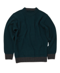 [UNISEX] CASHMERE SWEATER [D.GREEN]