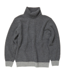 [UNISEX] CASHMERE TURTLENECK SWEATER [C.GRAY]