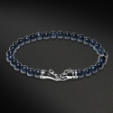 Panther Beads Bracelet(6mm Hawks Eye)