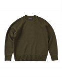 BESLOW STANDARD 17FW SLOW CREW NECK KNIT OLIVE