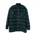 GREEN CHECK BIG SHIRT