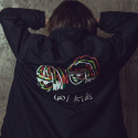 꼬미엔조(COMIENZO) [꼬미엔조] cool kids BOA COACH JACKET (BLACK)