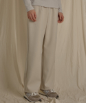 BASIC WIDE PANTS IVORY