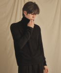 리올그(REORG) MEN BASIC TURTLENECK BLACK