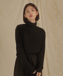리올그(REORG) WOMEN BASIC TURTLENECK BLACK