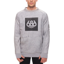 17FW MNS KNOCKOUT BONDED FLC CREW HEATHER GREY