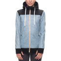 17FW WMS ELLA BONDED ZIP FLC HOODY LT BLUE DENIM SUBLIMATION