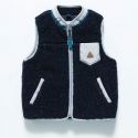 17 KIDS FLEECE VEST NAVY