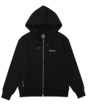 트라이투톡(TRYTOTALK) T37F POCKET POINT HOOD ZIP UP (BLACK)