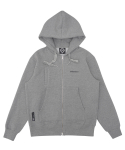 트라이투톡(TRYTOTALK) T37F POCKET POINT HOOD ZIP UP (GRAY)