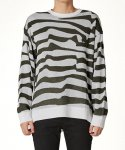 플랙(PLAC) Uni Over Fit Stripe Sweater_KH (PWOG1NTL10U0G5)