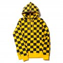 업스케일(UPSCALE) CHECKER BORD HOOD YELLOW