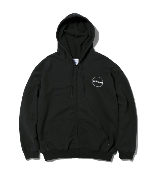 C-Logo ZIP UP Sweat Black