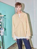노앙(NOHANT) DOUBLE LAYER SHIRT YELLOW