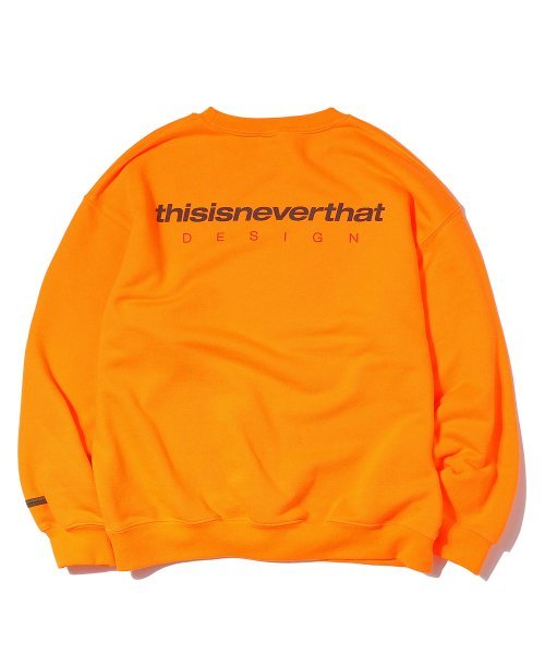 DSN-Logo Cewneck Neon Orange
