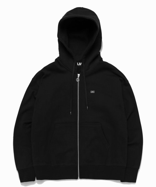 LMC MICRO BOX LOGO ZIP-UP HOODIE black