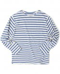 BOAT NECK LONG SLEEVE[IVORY/BLUE]